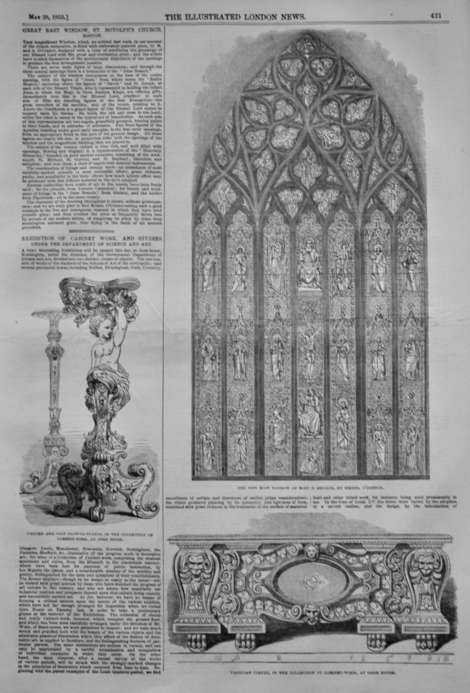Exhibition of Cabinet Work,  and Studies under the Department of Science and Art.  1853