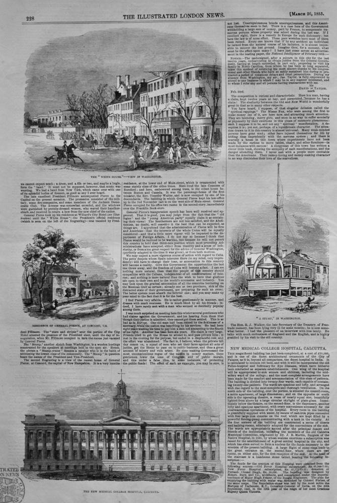 New Medical College Hospital, Calcutta.  1853.