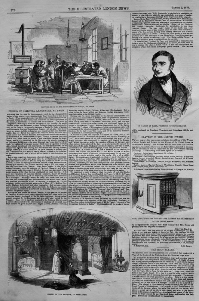 School of Oriental Languages, at Paris.  1853.
