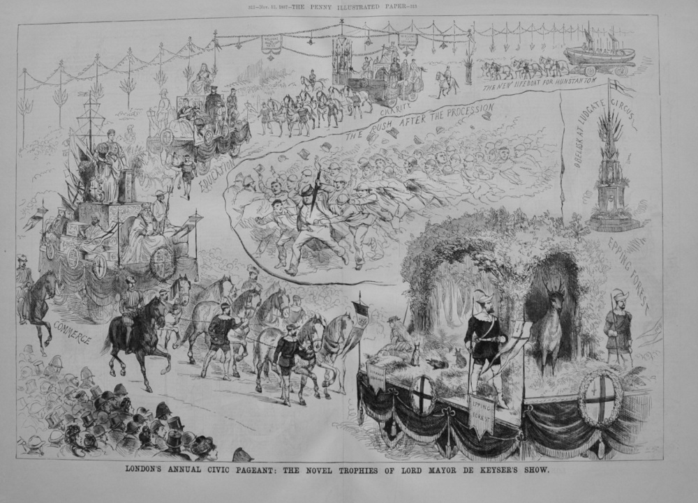 London's Annual Civic Pageant - 1887