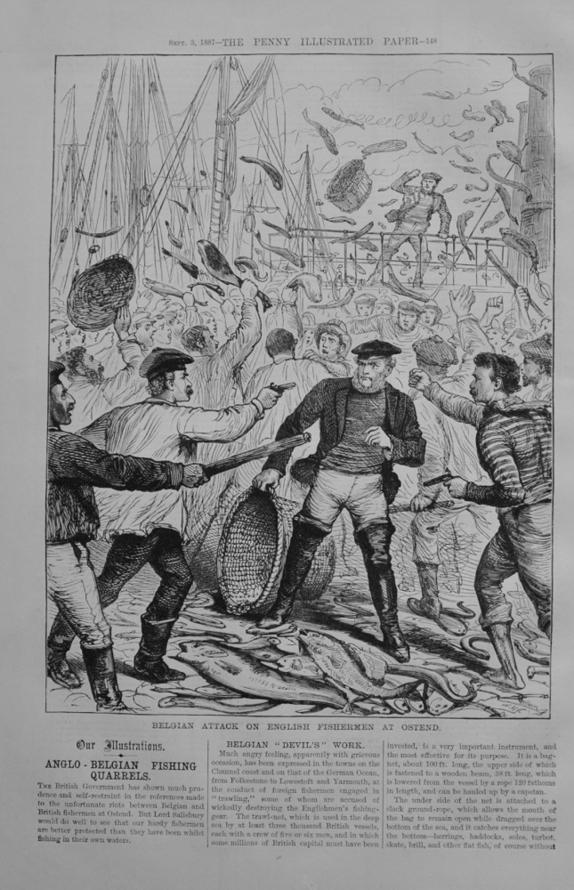 Anglo-Belgian Fishing Quarrels - 1887