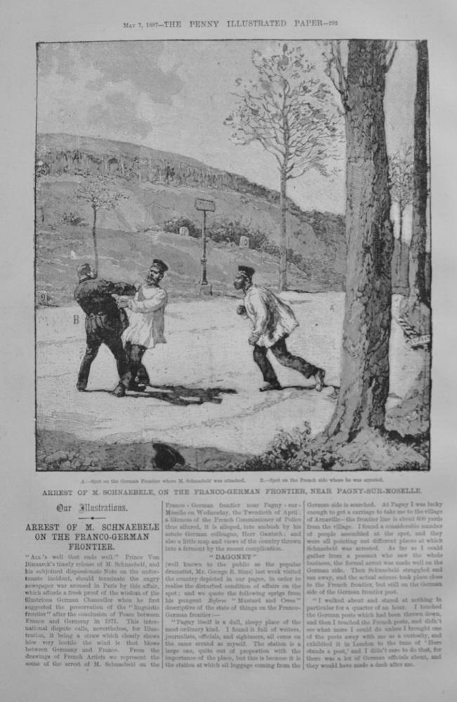 Arrest of M. Schnaebele in France - 1887