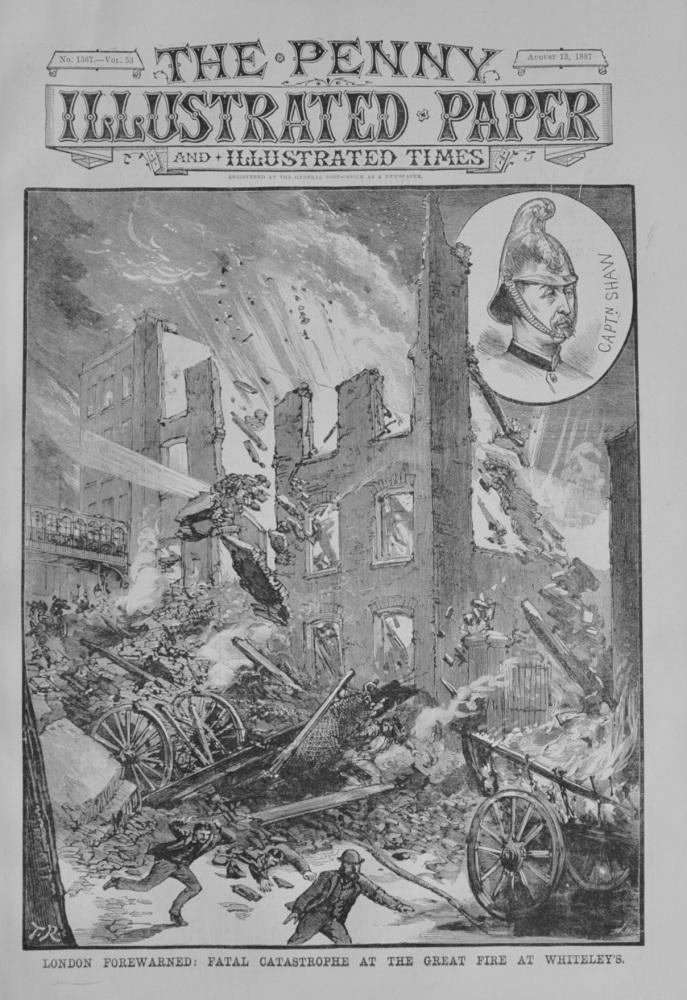 Great Fires in London - 1887