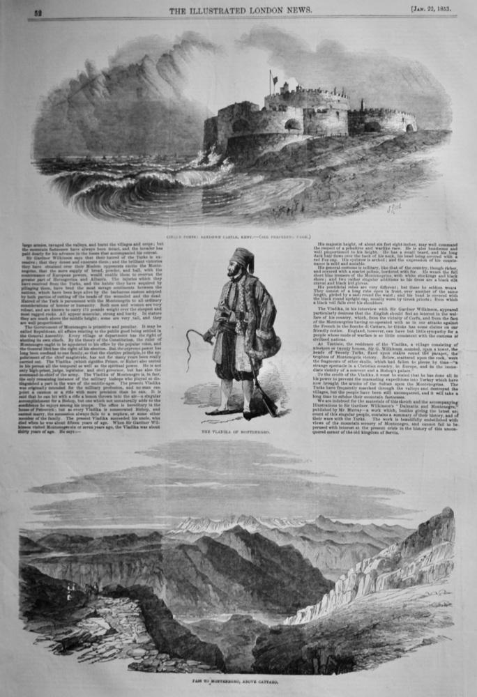 Montenegro; its Vladika and People.  1853.