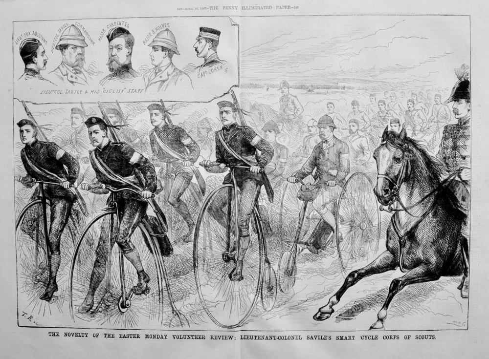 """""""Cycle Corps of Scouts"""" - 1887"""