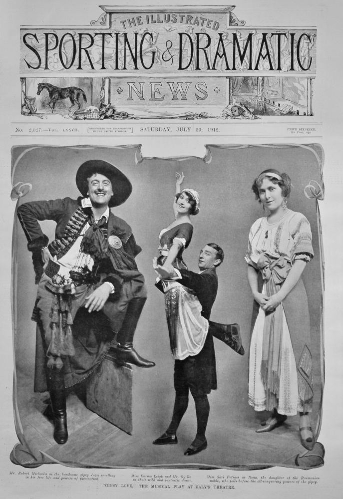 """""""Gipsy Love,"""" the Musical Play at Daly's Theatre.  1912."""