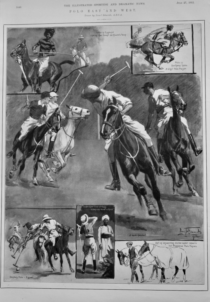 Polo East and West. 1912.