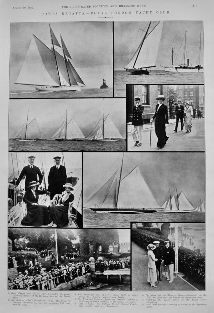 Cowes Regatta - Royal London Yacht Club.  1912.
