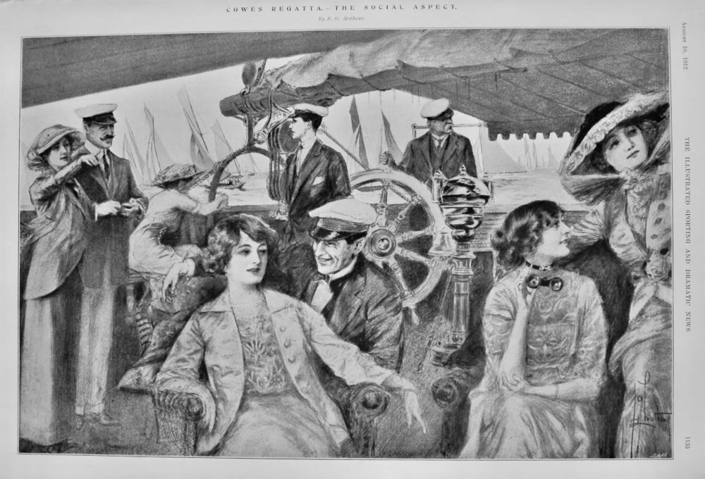 Cowes Regatta.- The Social Aspect.  1912.
