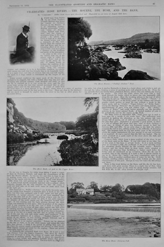 Celebrated Irish Rivers.- The Mourne, The Bush, and The Bann.   1912