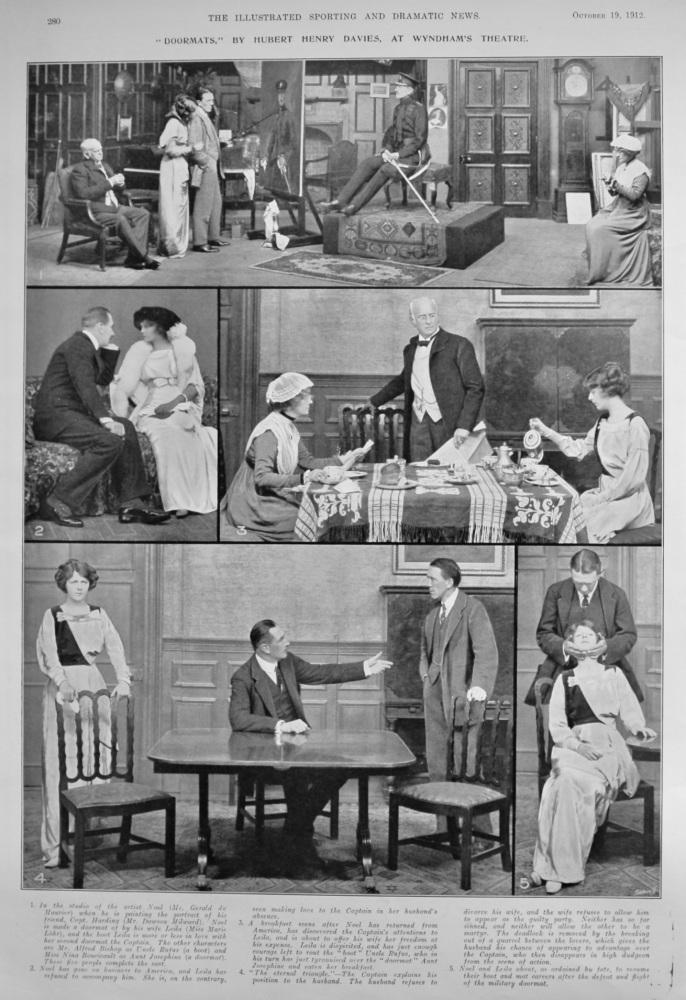 """""""Doormats,"""" by Hubert Henry Davies, at Wyndham's Theatre.  1912."""