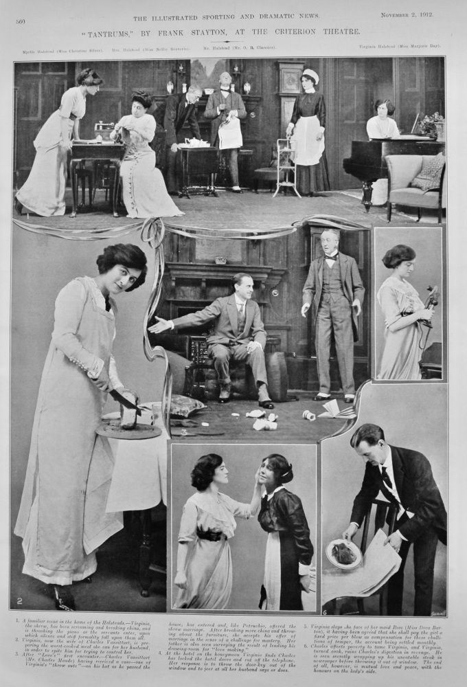 """""""Tantrums,"""" by Frank Stayton, at the Criterion Theatre.  1912."""