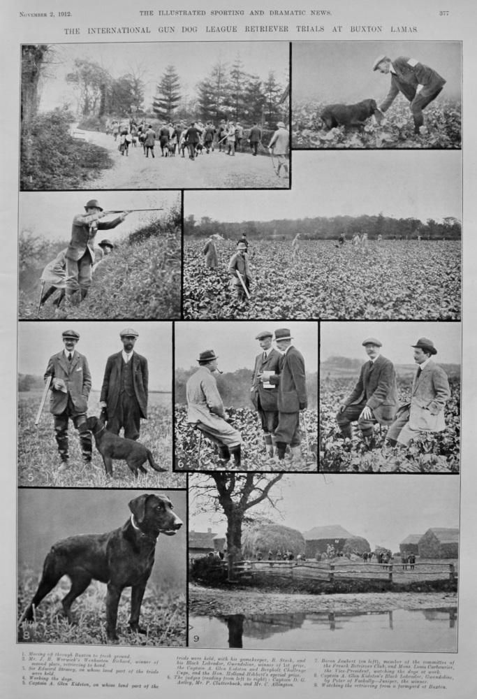 The International Gun Dog League Retriever Trials at Buxton Lamas.  1912.