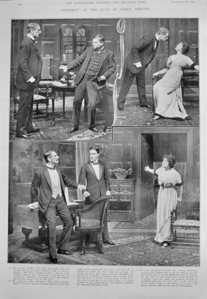 """Instinct,"" at the Duke of York's Theatre.  1912."