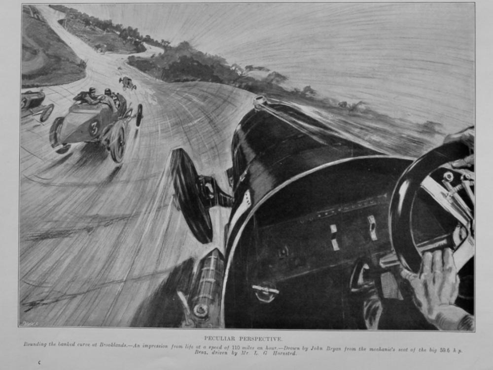 Peculiar Perspective.  1912. (Brooklands).