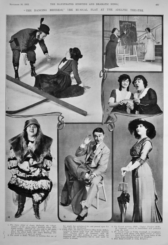 """The Dancing Mistress,"" the Musical Play at the Adelphi Theatre.  1912."