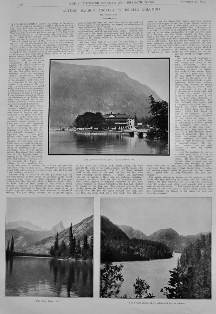 Autumn Salmon Angling in British Columbia.  1912.