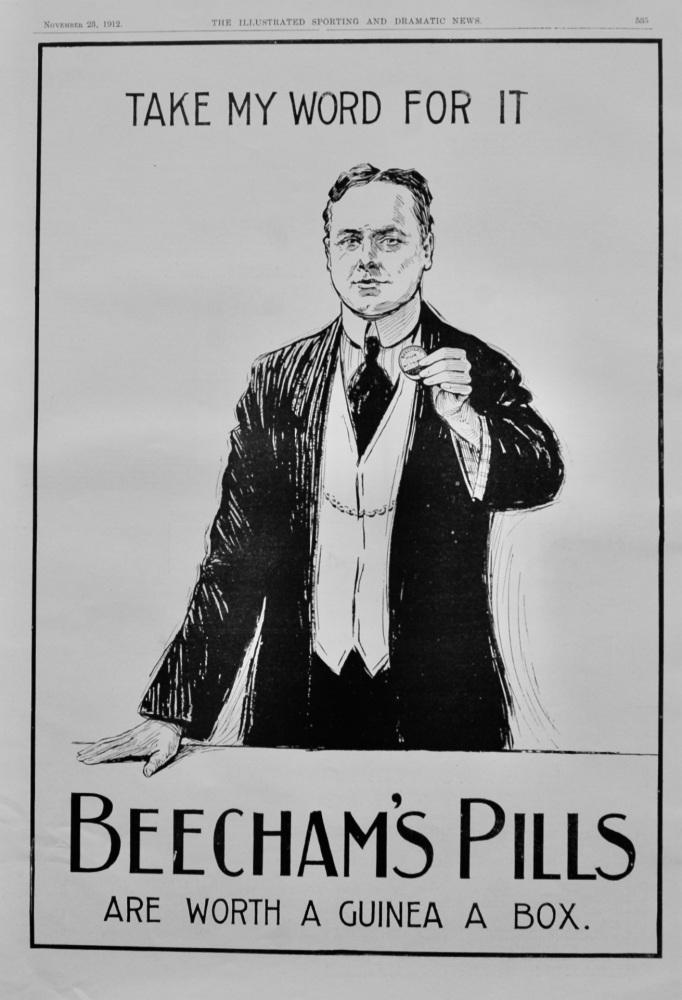 Beecham's Pills.  November 23rd, 1912.