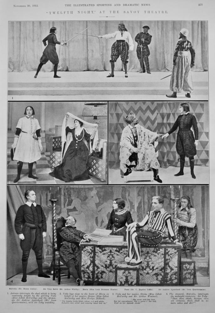 """Twelfth Night,"" at the Savoy Theatre.  1912."