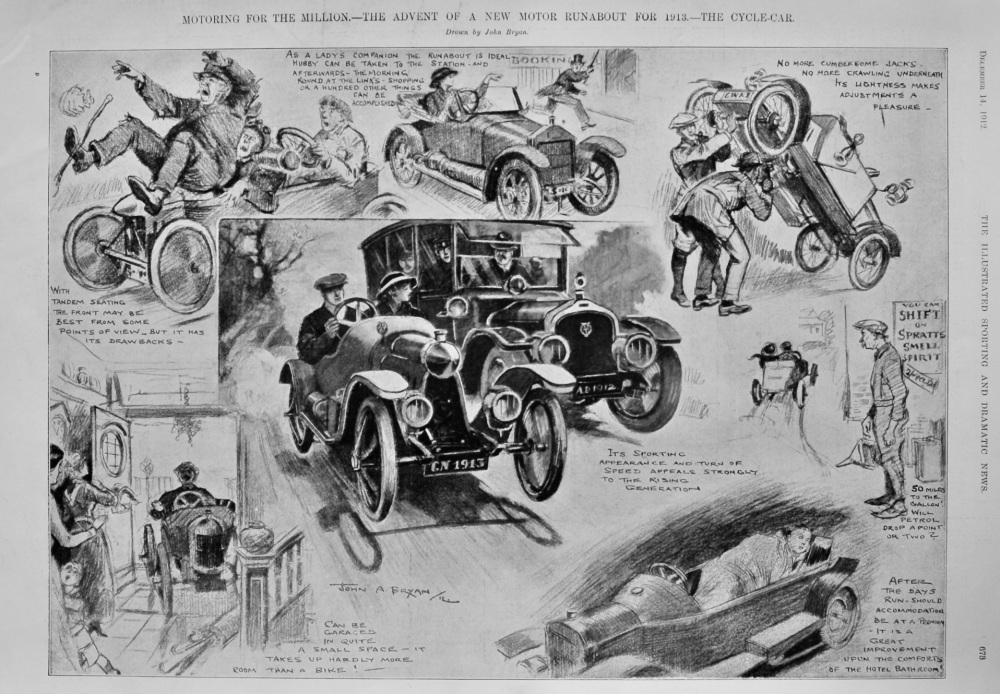 Motoring for the Million.- The Advent of a new Motor Runabout for 1913.- The Cycle-Car.