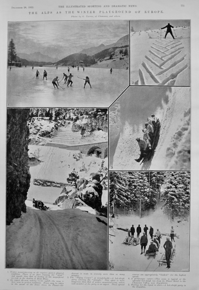 The Alps as the Winter Playground of Europe.  1912.