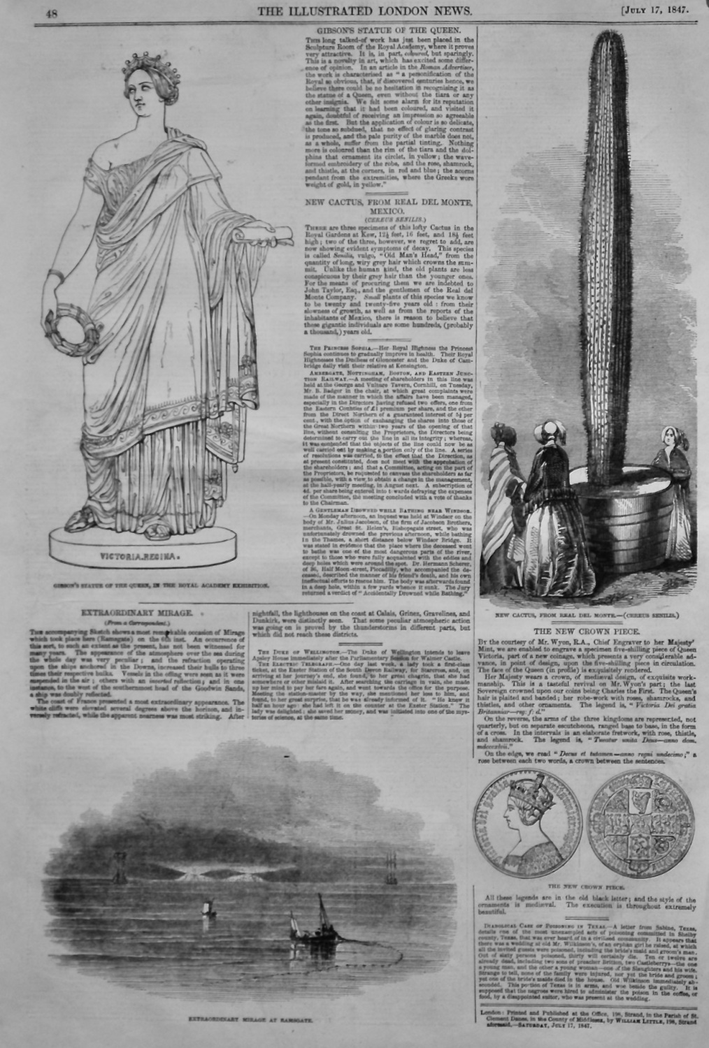 Gibson's Statue of the Queen.  1847.