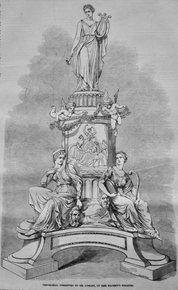 Testimonial Presented to Mr. Lumley, of Her Majesty's Theatre.  1847.