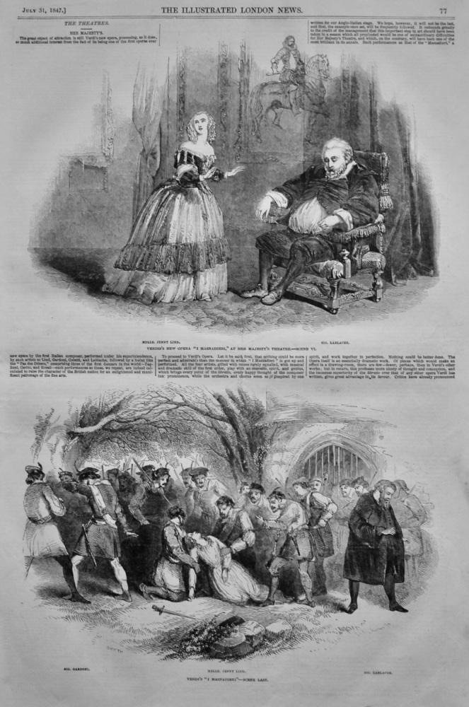 Verdi's New Opera at Her Majesty's Theatre. 1847.