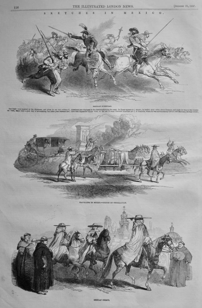 Sketches in Mexico.  1847.