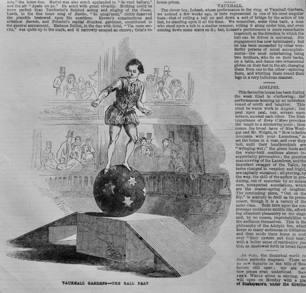 Vauxhall Gardens- The Ball Feat. (Loisset).  1847.