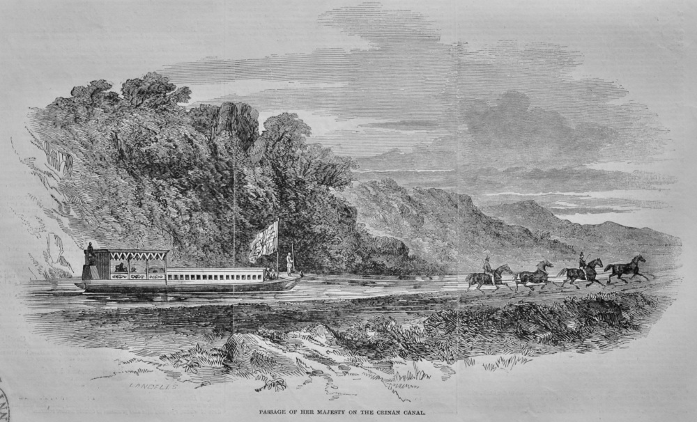 Passage of Her Majesty on the Crinan Canal.  1847.