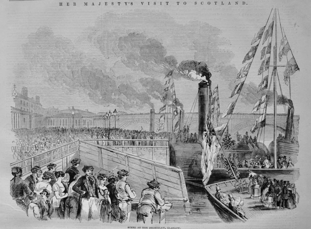 Scene at the Bromielaw, Glasgow.  1847.