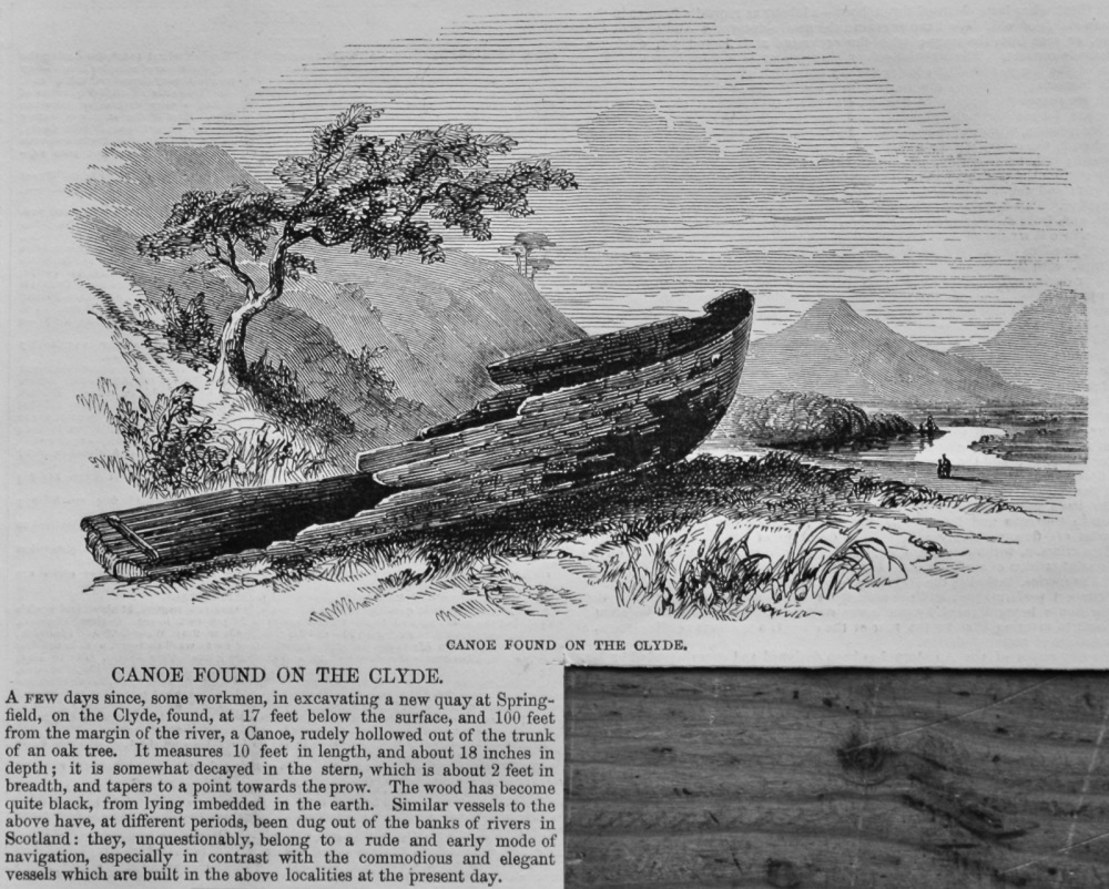 Canoe Found on the Clyde.  1847.