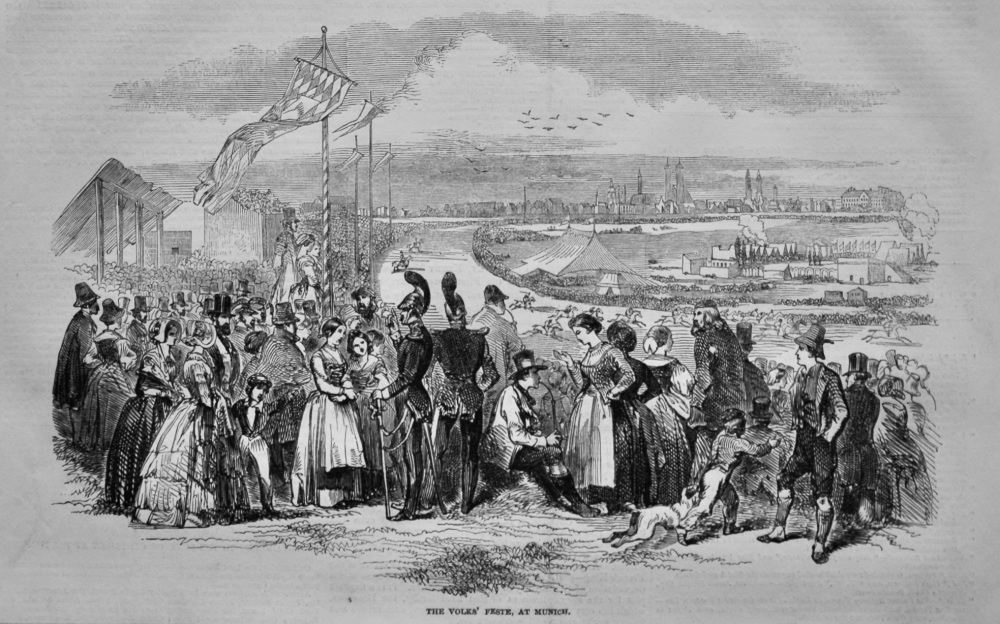 The Volks' Feste, at Munich.  1847.