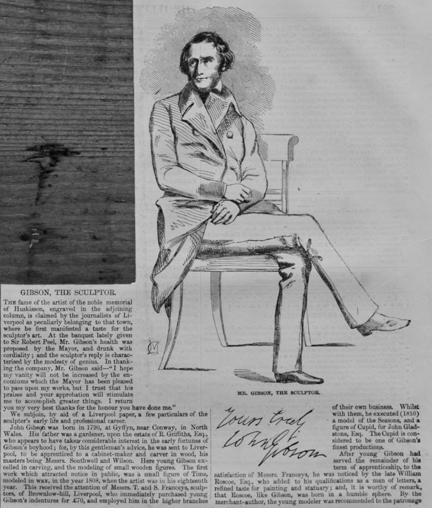 John Gibson, the Sculptor.  1847.
