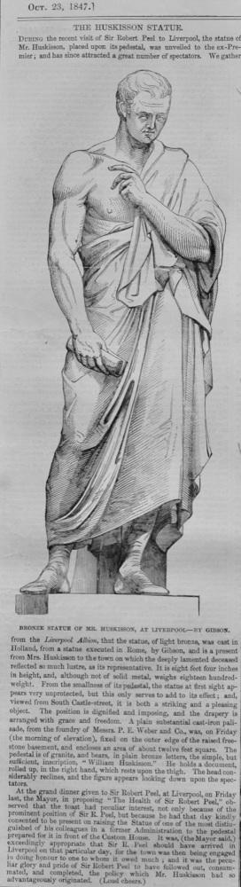 The Huskisson Statue.  1847.