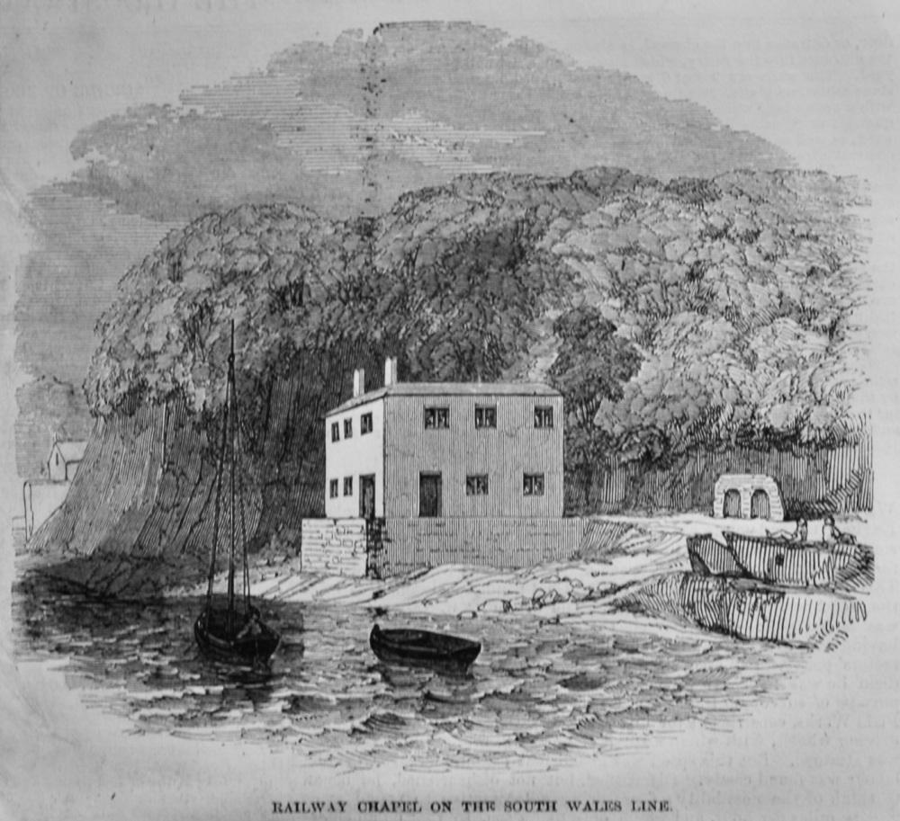 Gatcombe Railway Chapel on the South Wales Line.  1847.