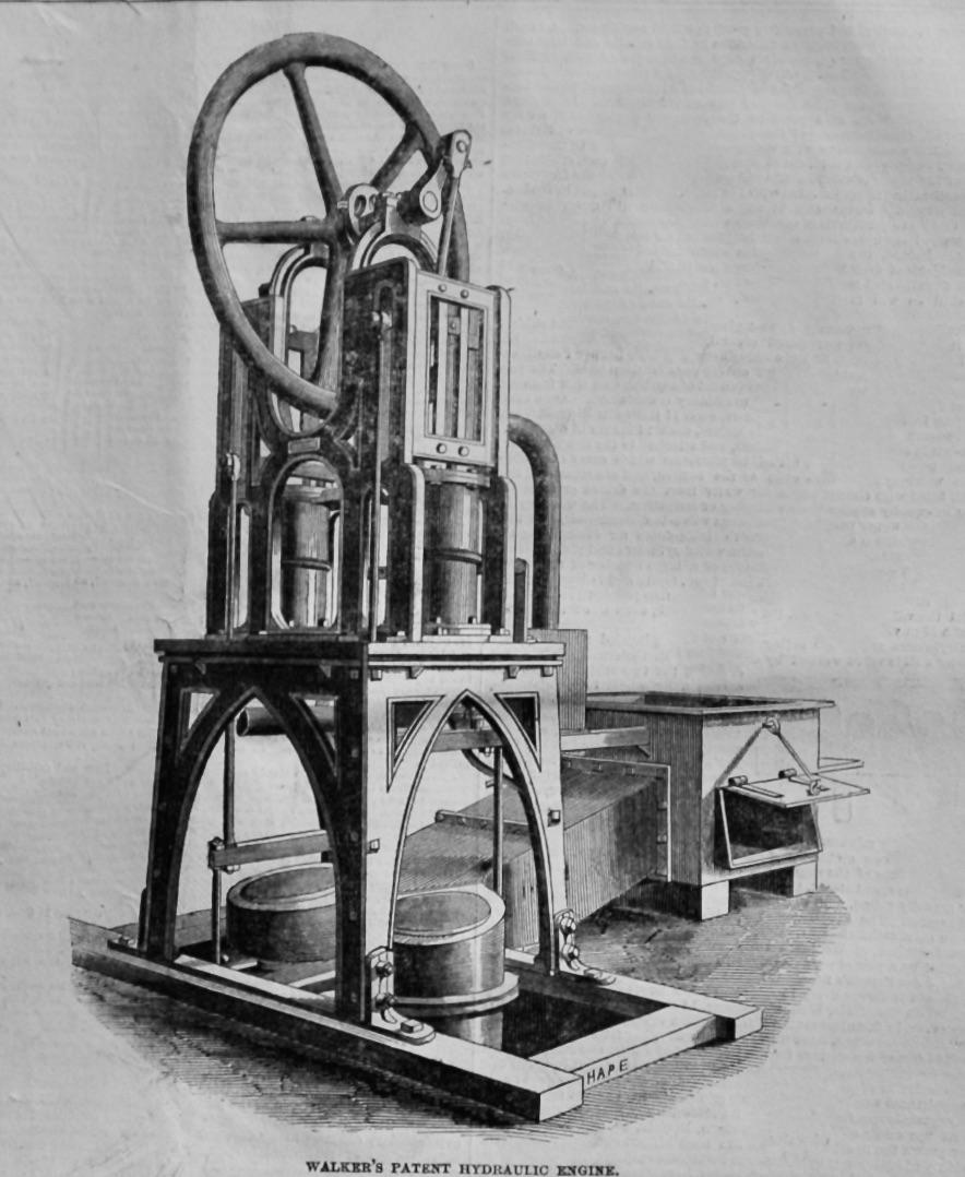 Walker's Patent Hydraulic Engine.  1847.