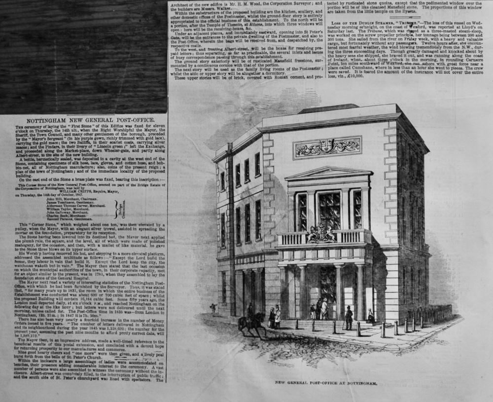 Nottingham New General Post-Office.  1847.