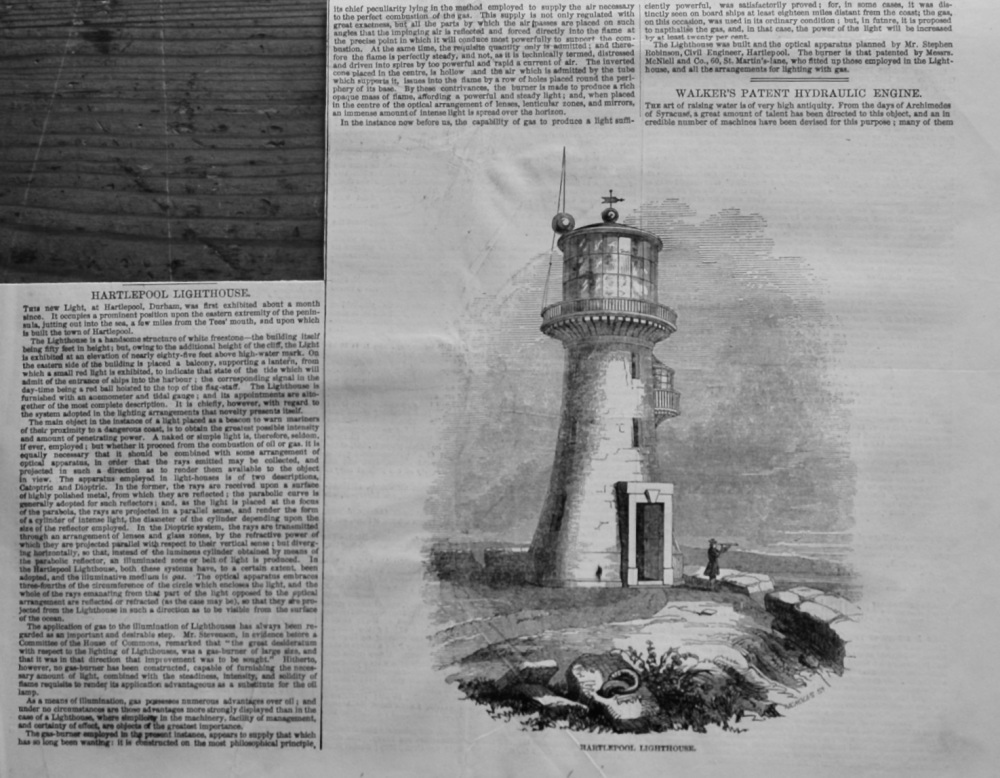 Hartlepool Lighthouse.  1847.