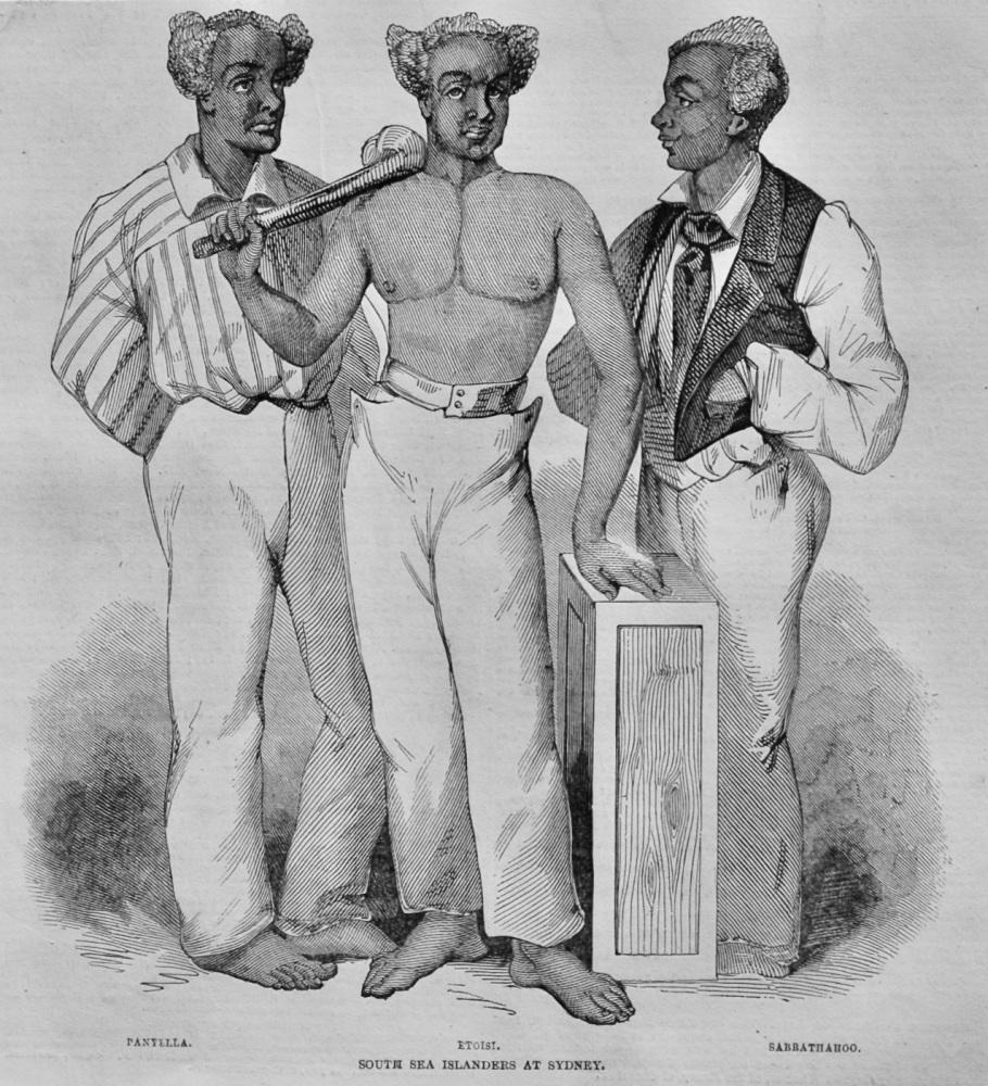 South Sea Islanders, at Sydney.  1847.