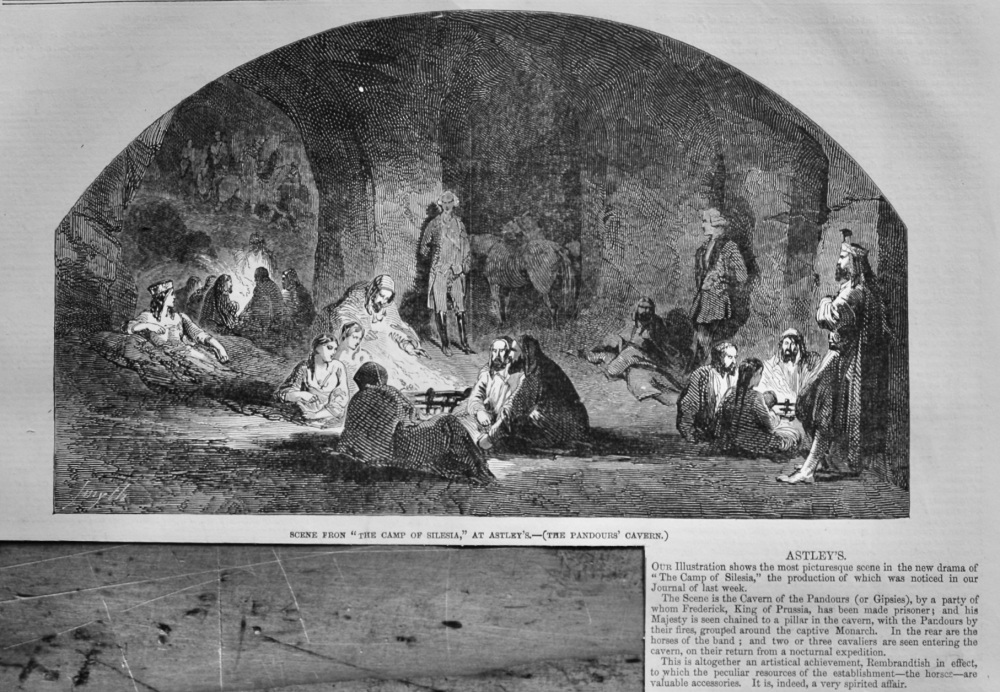 "Scene from ""The Camp of Silesia,"" at Astley's.-(The Pandours's Cavern.)  1847."