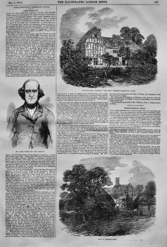 "Shaksperean Relic.  (George's Farm formerly ""The Ship,"" Grendon Underwood, Bucks.)  1847."