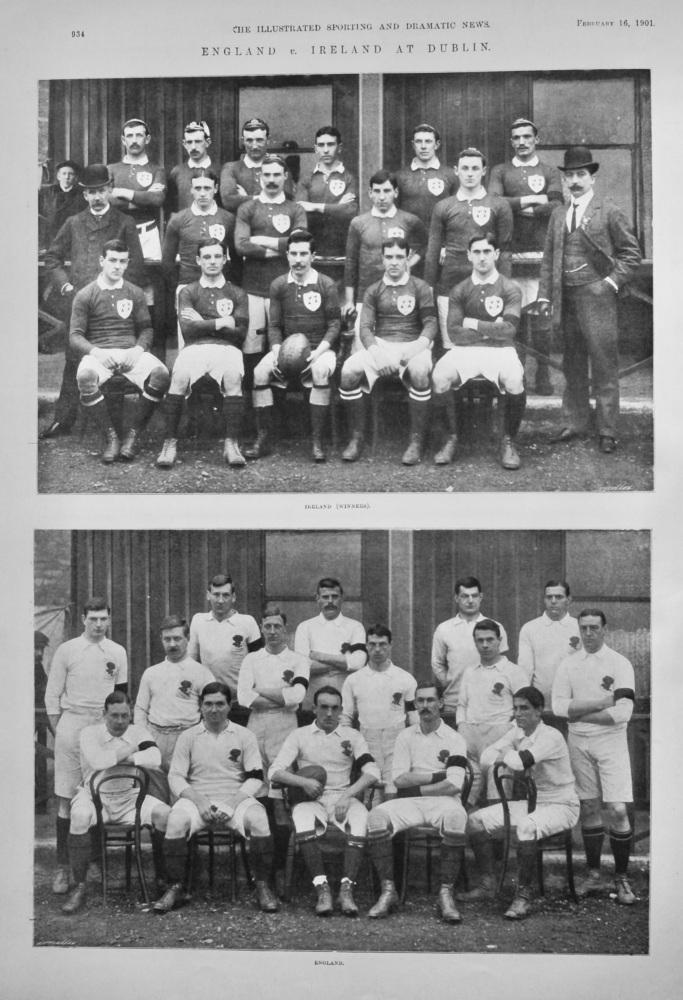 England v. Ireland at Dublin.  (Rugby) 1901.