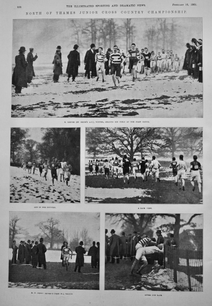 North of Thames Junior Cross Country Championship.  1901.