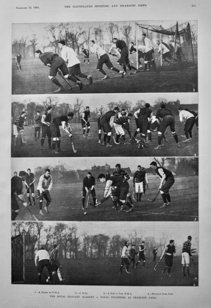 The Royal Military Academy v. Royal Engineers at Charlton Park.  (Hockey) 1901.