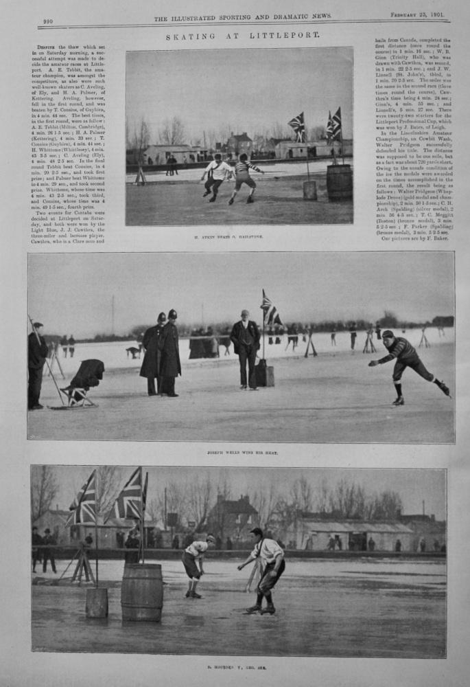 Skating at Littleport.  1901.