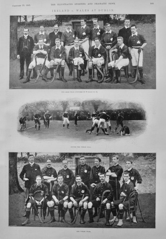 Ireland v. Wales at Dublin.  1901.