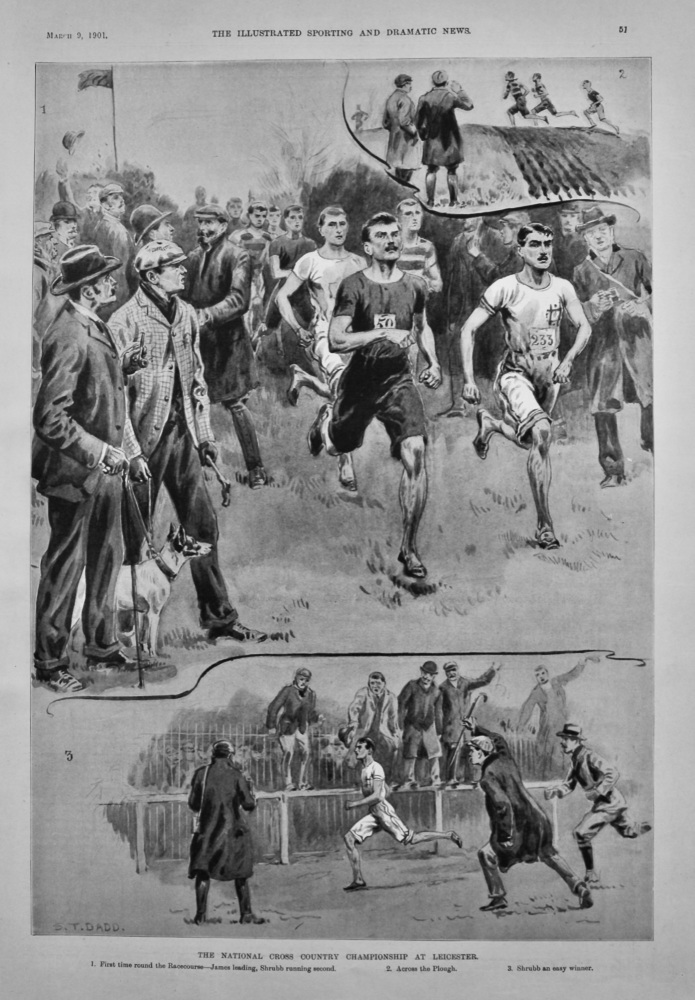 The National Cross Country Championship at Leicester.  1901.
