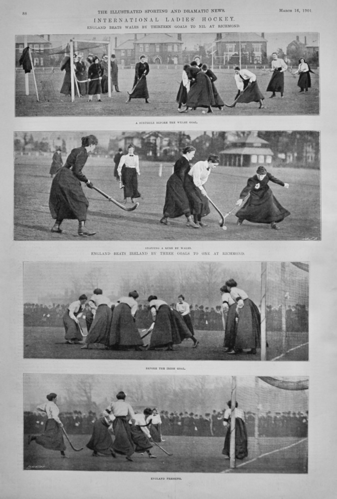 International Ladies' Hockey.  1901.